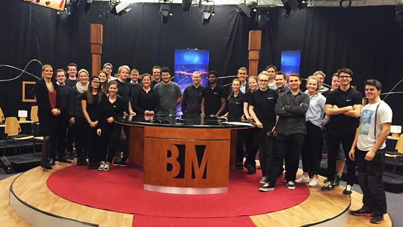 BrunstadTV-crew ved innspilling av en episode av «BrunstadMagasinet».