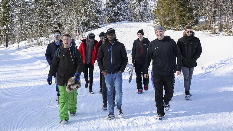 Ungdomsutveksling i fjell og snø