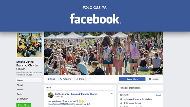 Følg BCC på Facebook