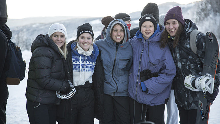 International Youth Group on A Winter Trip to Hallingdal
