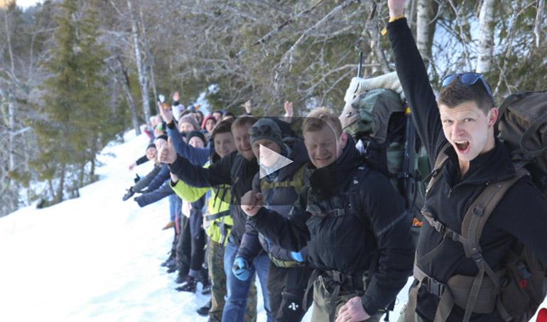 Et innblikk i et av Påskecampens mange aktivitetstilbud