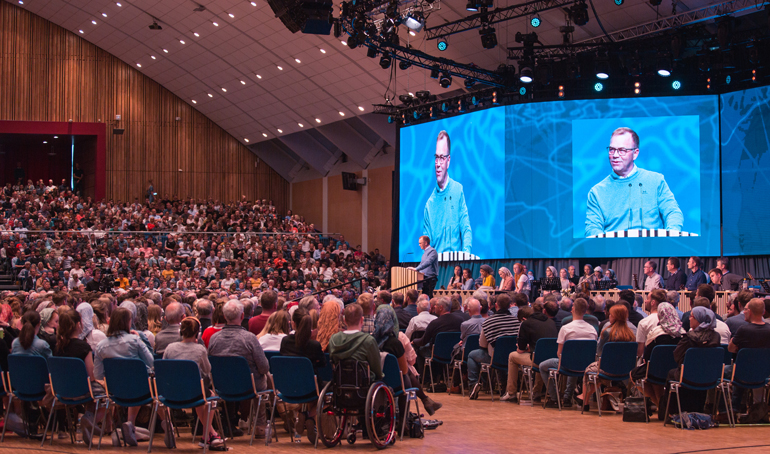 A CONFERENCE WITH 10,000 ATTENDEES IS CANCELLED
